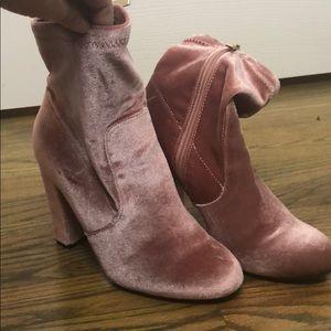 Brand New Velvet Booties
